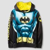 Batman Boys' Costume Hooded Sweatshirt - Black/Blue