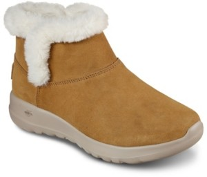 Skechers Women's On The Go Joy - Bundle Up Wide Width Winter Boots from Finish Line