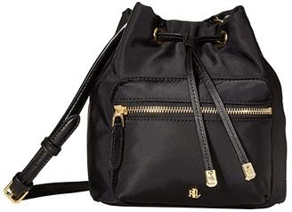 Lauren Ralph Lauren Dryden Drawstring Soft Nylon Debby II Mini (Black) Handbags
