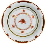 Herend Three-Piece Chinese Bouquet Plates