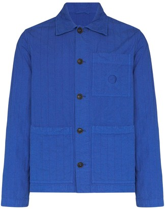 Craig Green Chore striped cotton jacket