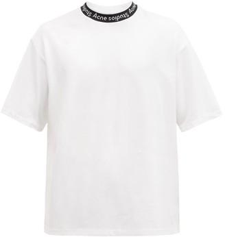 Acne Studios Extorr Logo-neck Jersey T-shirt - White