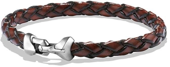 David Yurman Armory Leather Bracelet in Brown