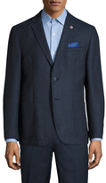Ben Sherman Wool Herringbone Notch Lapel Sportcoat