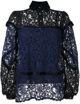 Sacai lace panelled blouse