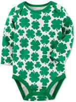 Carter's Shamrock-Print Cotton Bodysuit, Baby Boys and Baby Girls