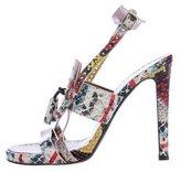 Proenza Schouler Embossed Leather Splatter Sandals