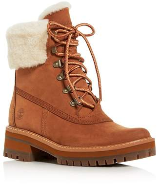Timberland Women's Courmayeur Valley Shearling Waterproof Cold-Weather Boots