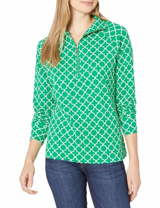 Pappagallo Women's Half Zip Pull Over Top