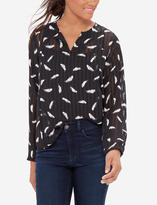 The Limited Printed Front Keyhole Blouse