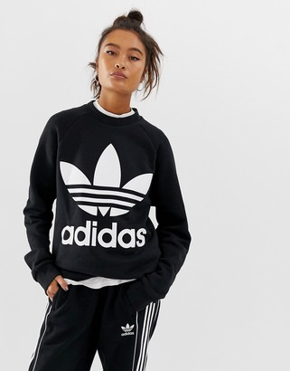 adidas trefoil oversized sweater