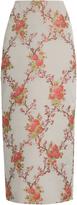 Brock Collection Snow blossom-jacquard pencil skirt