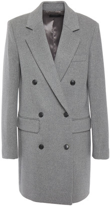 Joseph Elkins Double-breasted Wool-blend Felt Coat