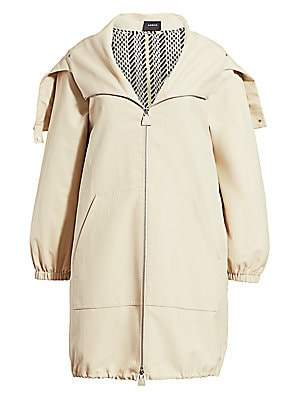 Akris Women's Helen Detachable Tweed Gilet-Lined Parka