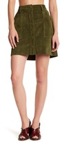 Current/Elliott The Leather Naval Suede Skirt
