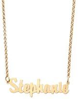 Argentovivo Women's Personalized Script Name Necklace
