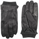 Dockers Leather Rib-Knit Heathered Gloves