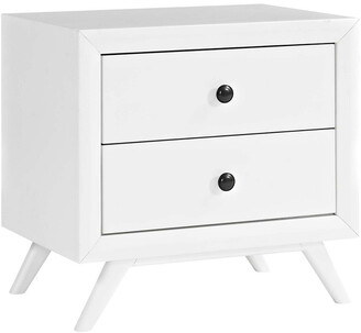 Modway Tracy Upholstered Fabric Wood Nightstand