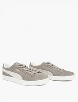 Puma Grey Suede Classic Sneakers