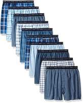 Hanes Men's 10-Pack Tartan Boxer With Exposed Waistband