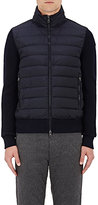 Moncler Men's Down-Quilted English Rib-Knit Jacket