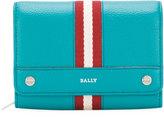 Bally stripe detail fold-over wallet