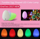 ONETWO Tumbler LED Night Light, Tumbler USB Rechargeable Mini Night Light color seven tumbler egg shaped LED atmosphere lamp perfect gift Easter egg, the egg of your unique creative rendering