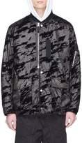 Stone Island Abstract print padded Lucid Flock bomber jacket