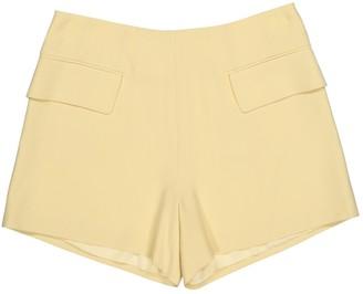 Alexander McQueen Yellow Viscose Shorts