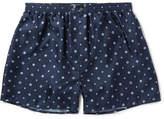 Derek Rose Otis Printed Silk Boxer Shorts
