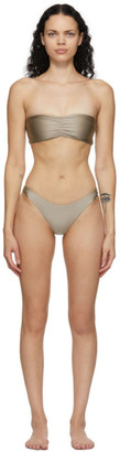 JADE SWIM Taupe Ava and Expose Bikini