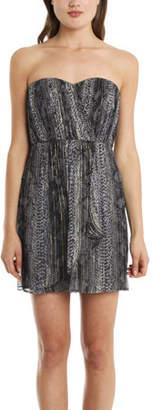 Twelfth Street By Cynthia Vincent Cynthia Vincent Strapless Lurex Dress