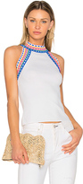 Milly Trim Tank in White