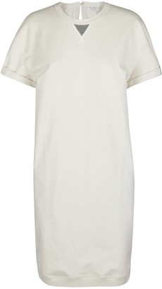 Brunello Cucinelli Embellished T-Shirt Dress