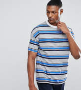 Asos TALL Oversized T-Shirt With Blue Retro Stripe