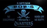AdvPro Name pw265-b Bob's Captain Private Quarters Skull Bar Beer Neon Light Sign
