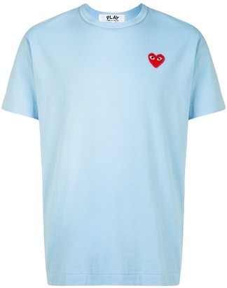 Comme des Garcons embroidered heart patch T-shirt
