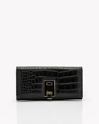 Le Château Croco Embossed Faux Leather Flapover Wallet