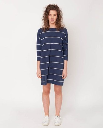 Beaumont Organic Sophie Sue Organic Cotton Dress In Midnight Natural - Midnight & Natural / Large