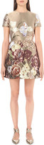 Valentino Floral-jacquard silk dress