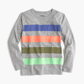 J.Crew Boys' long-sleeve striped pocket T-shirt