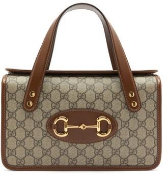 Gucci 1955 Horsebit Boston Gg Supreme Canvas Bag - Brown Multi