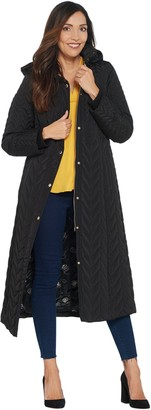 Dennis Basso Petite Water Resistant Maxi Puffer Coat