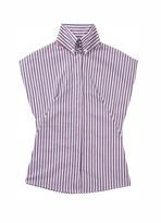 Sleeveless Oxford Stripe Shirt