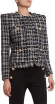 Balmain Metallic-Flecked Tweed 4-Pocket Jacket