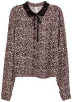 H&M Blouse with Pin-tucks - White - Ladies