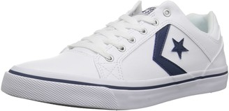 Converse EL Distrito Leather Low Top Sneaker White/Navy/White 6 M US
