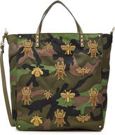 Valentino Embroidered and Embellished Canvas Tote