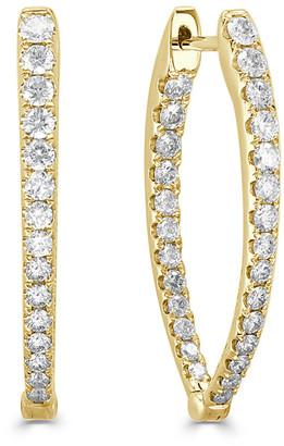 Sabrina Designs 14K 0.48 Ct. Tw. Diamond Oval Hoops