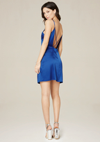 Bebe Jen Silk Slip Mini Dress